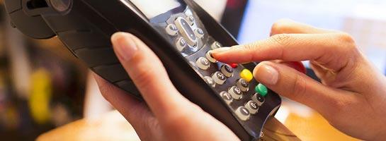 Bezahlung über Kartenlesegerät