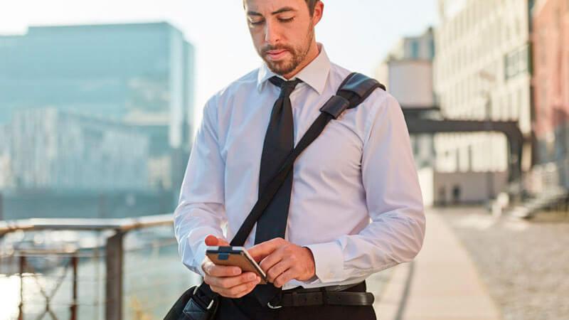 New Work: unterwegs arbeiten mit Smartphone