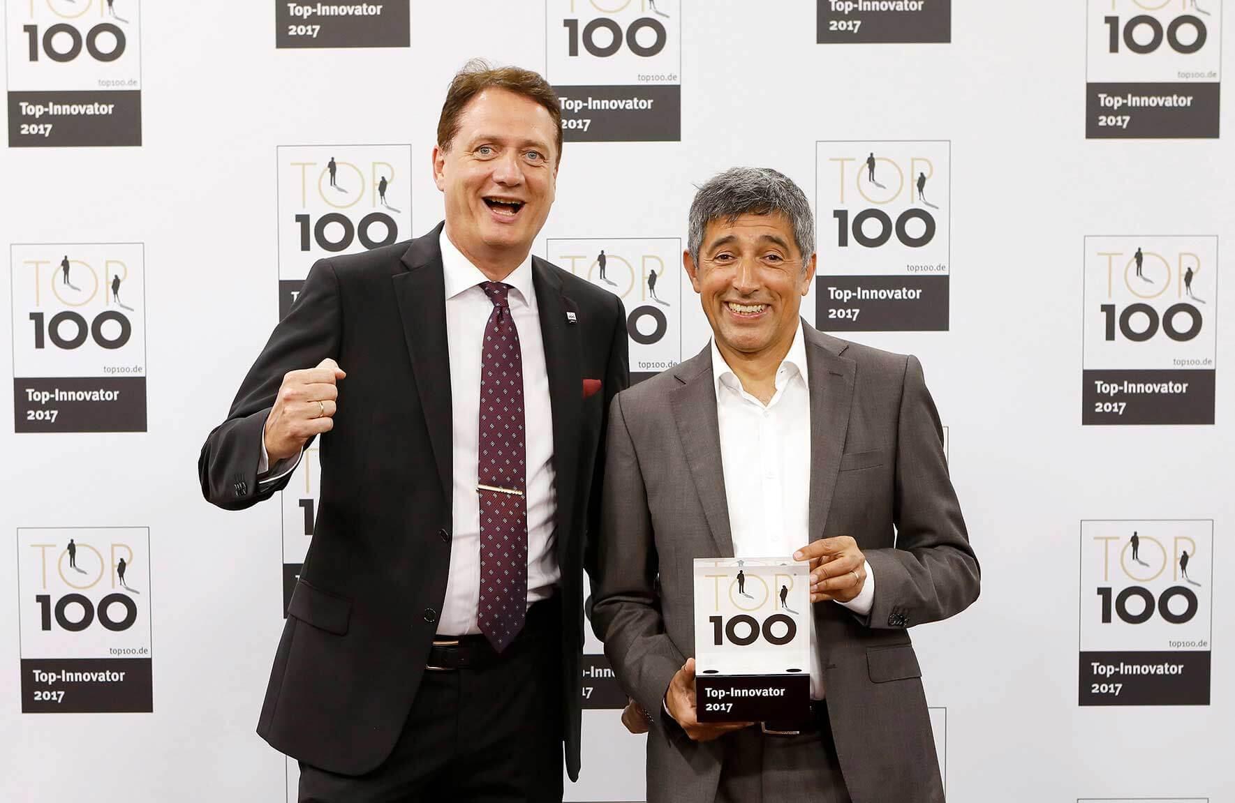 Ralf Geishauser mit Ranga Yogeshwar bei der Top 100-Preisverleihungleihg