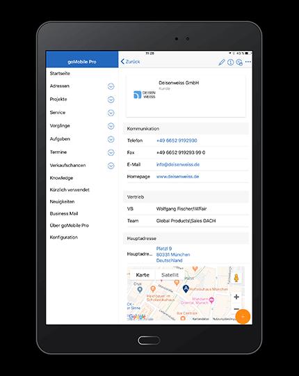 Mobile CRM-Anwendung: Die CRM-App 2