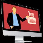 Bildschirm mit YouTube-Logo