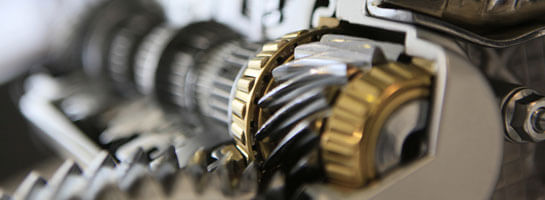 Customer reference Litens, close-up of a gearbox