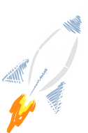 Illustration CRM-Rakete