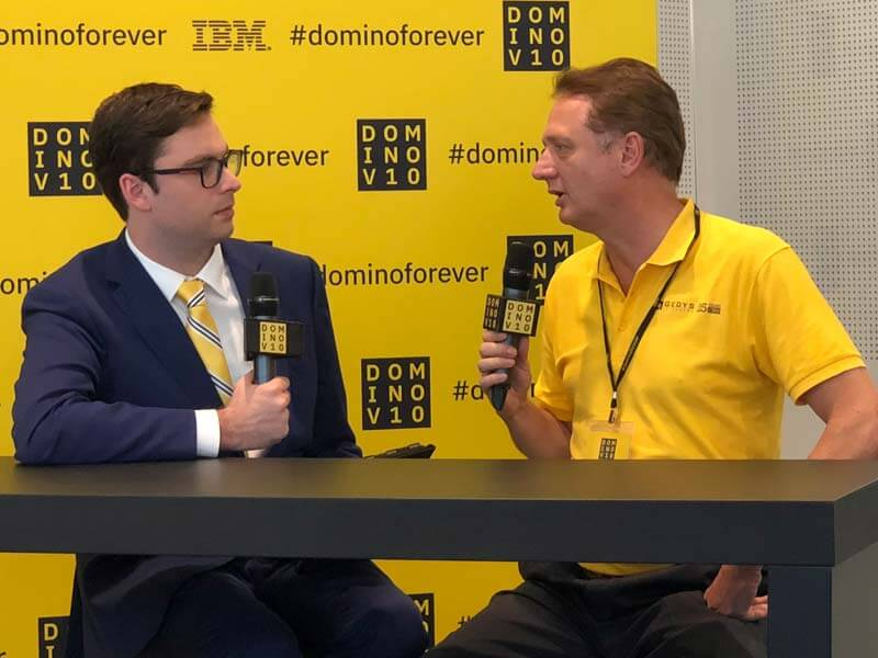 Ralf Geishauser im Interview auf der Domino V10 Launch-Event