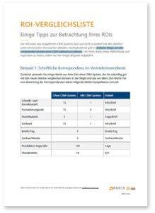 Checkliste: ROI-Vergleich, Titelblatt DE