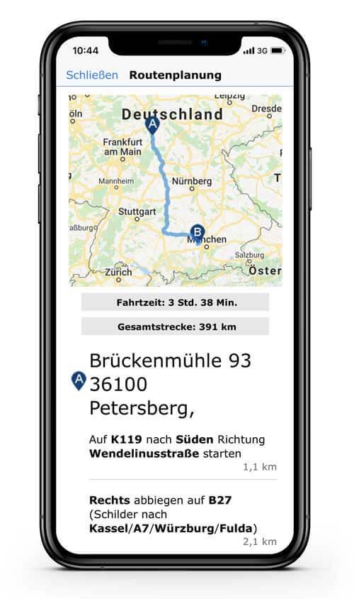 CRM App: goMobile Pro: CRM mit Routenplanung
