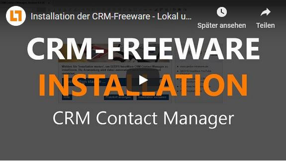 Video CRM-Freeware Installation