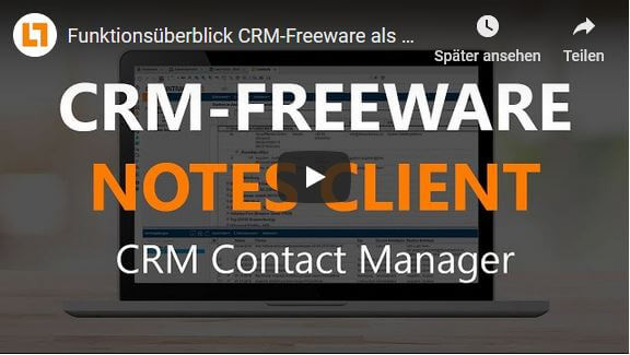 Video CRM-Freeware mit dem Notes Client