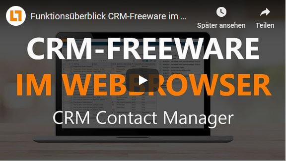 Video CRM-Freeware mit dem Webbrowser
