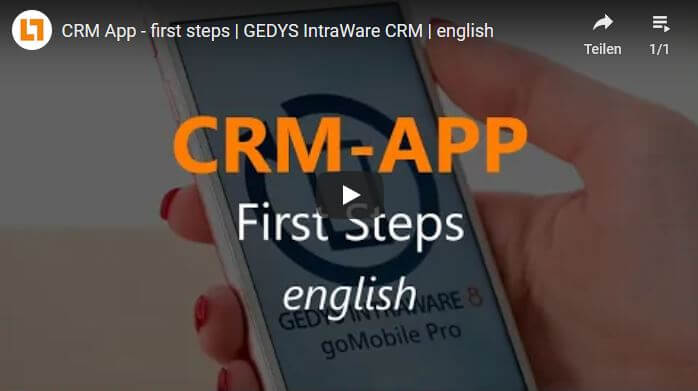 Video: CRM App - first steps   GEDYS IntraWare CRM   english