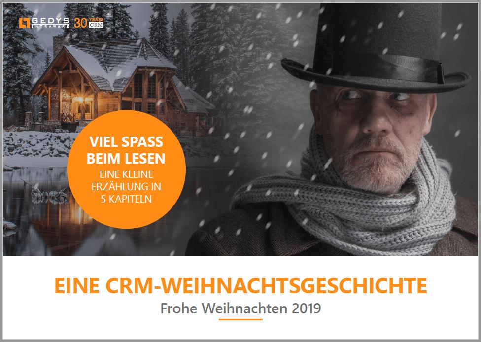 """Screenshot PDF-Titelseite zu """"Eine CRM-Weihnachtsgeschichte"""" von GEDYS IntraWare"""