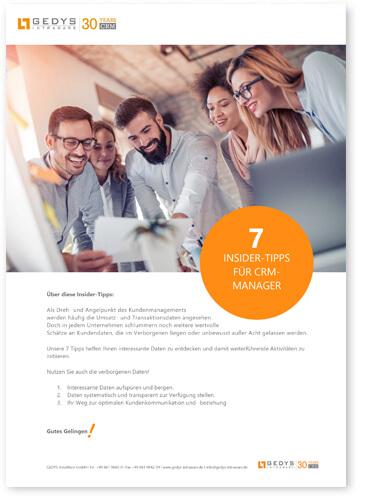 7_Tipps_für_CRM_Manager, Whitepaper_Titelbild, GEDYS IntraWare