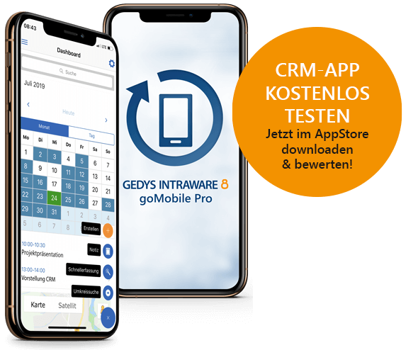 Try GEDYS-IntraWare's goMobile Pro mobile CRM app now!