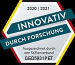 Logo des deutschen Stifterverbandes Forschung und Entwicklung für 2020