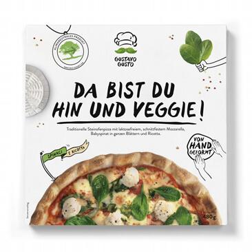 Gustavo Gusto Packshot Veggie Pizza