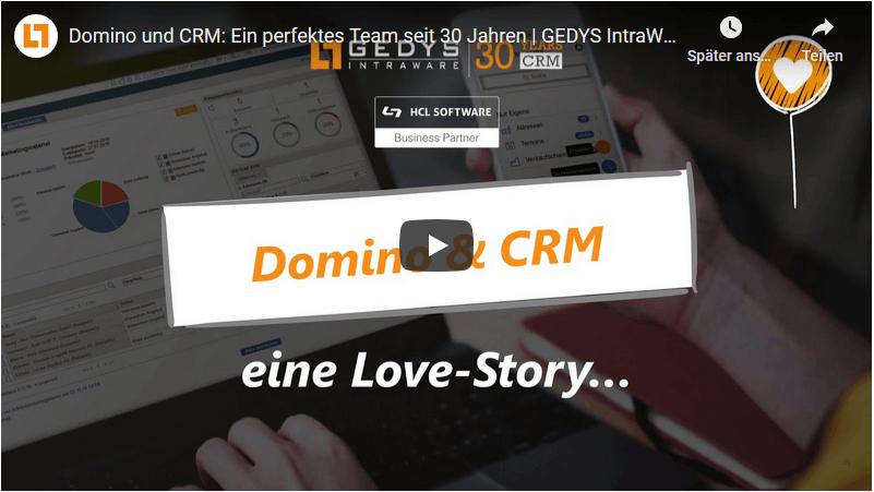 Video: Domino und CRM: Ein perfektes Team seit 30 Jahren, GEDYS IntraWare