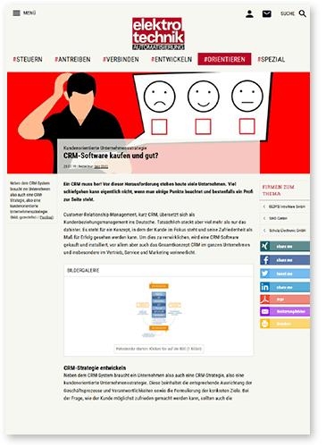 """Titelbild zu Fachartikel """"CRM-Software kaufen und gut?"""" von GEDYS IntraWare"""