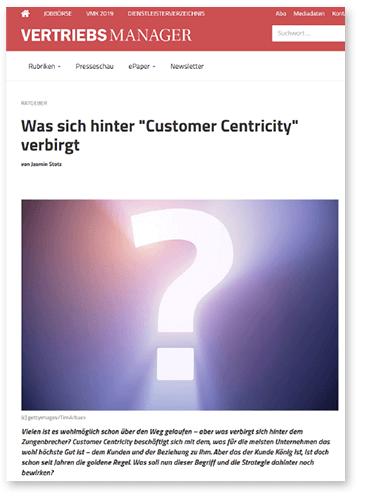 """Titelbild zu Fachartikel """"Was verbirgt sich hinter Customer Centricity"""" von GEDYS IntraWare"""