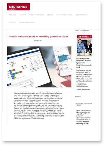 """Titelbild zu Fachartikel """"Wie sich Traffic und Leads generieren lassen"""" von GEDYS IntraWare"""
