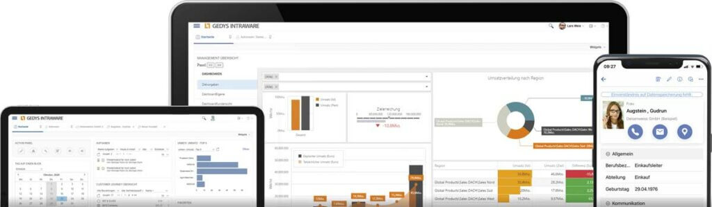 Cloud-CRM Release 8.11 auf Devices mit Preis, GEDYS IntraWare