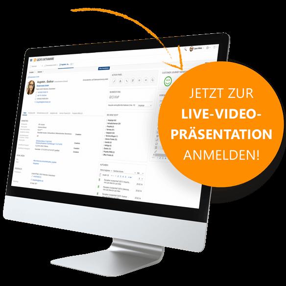 CRM Software Release 8.11: Anmeldung zur Live-Video-Präsentation von GEDYS IntraWare