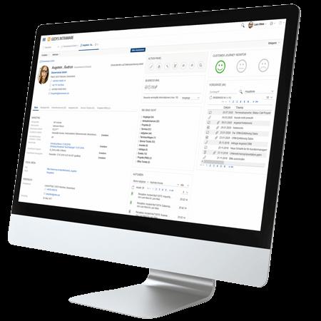 Desktop mit CRM-Release 8.11 von GEDYS-IntraWare