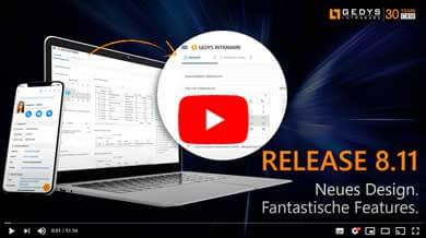 Video des Release-Events zur CRM-Software 8.11 von GEDYS IntraWare