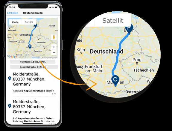 Routenplanung in CRM-App im Release 8.11 von GEDYS-IntraWare