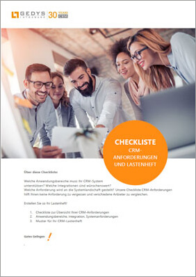 Checklist CRM requirements and booklet, title small