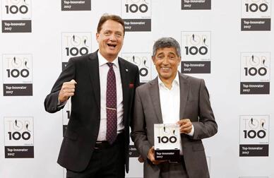 Top innovator: Ralf Geishauser with Ranga Yogeshwar