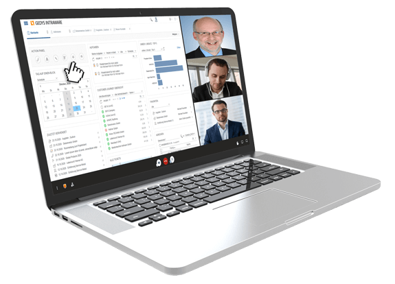 Live online: Video presentation of GEDYS IntraWare CRM software