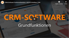 Video-Bild zur CRM-Software der GEDYS IntraWare