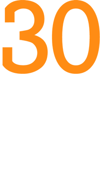Logo 30 Years CRM by GEDYS IntraWare