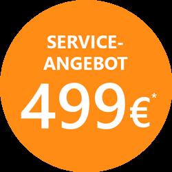 Installation von DOMI für 499 Euro, Angebot in orangenem Kreis, GEDYS IntaWare