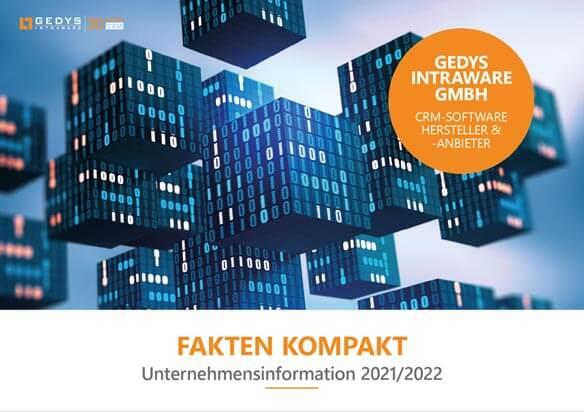 """Titelseite zu """"Fakten-Kompakt"""", Unternehmensinfo über GEDYS IntraWare"""
