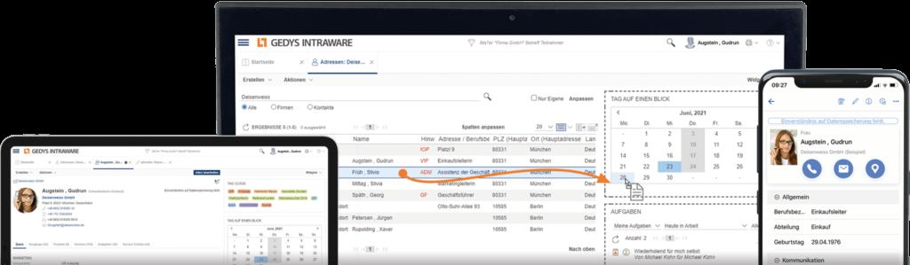 Cloud-CRM Release 8.12 auf Laptop,Tablet und Smartphone