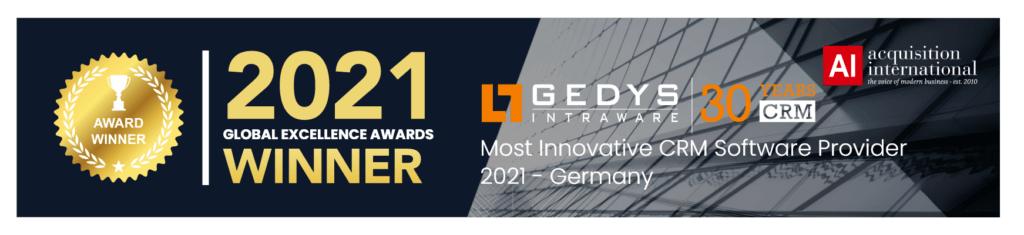 Global Excellence Award Gewinner GEDYS IntraWare